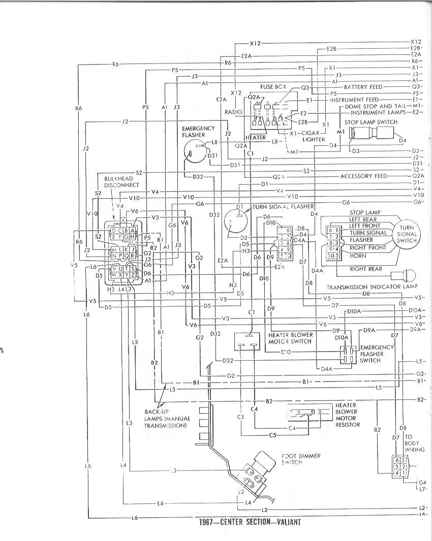1967 barracuda dash wiring diagram